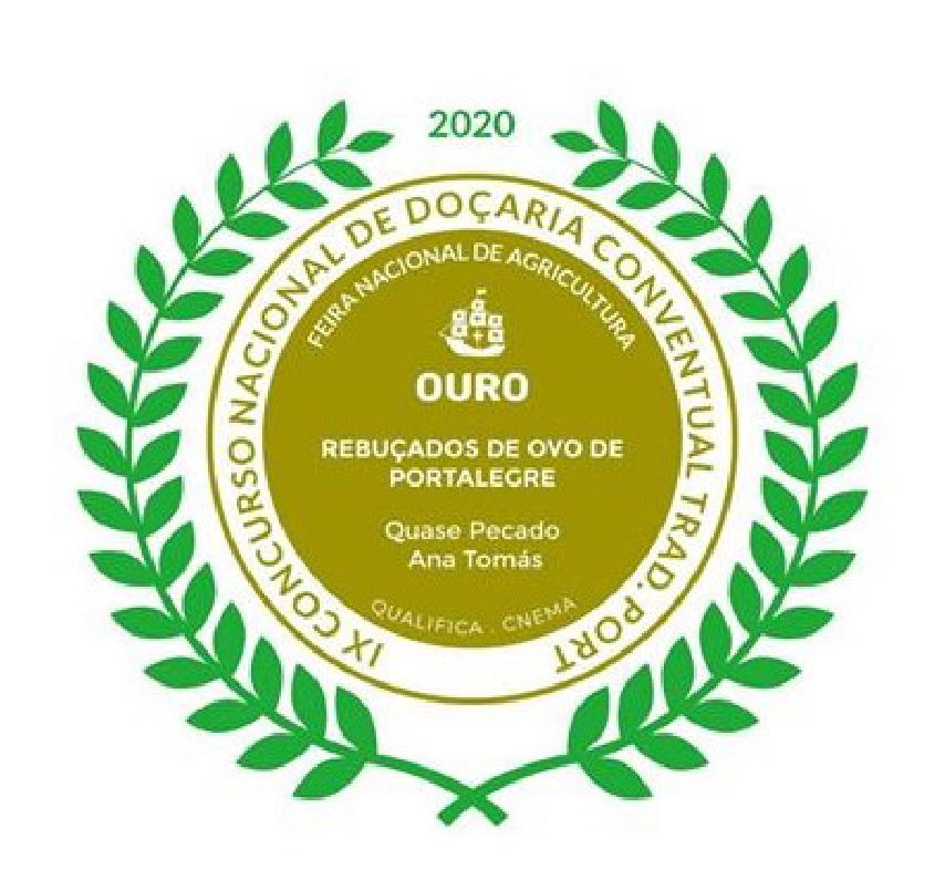 Medalha de Ouro Concurso Nacional de Doçaria Conventual 2020